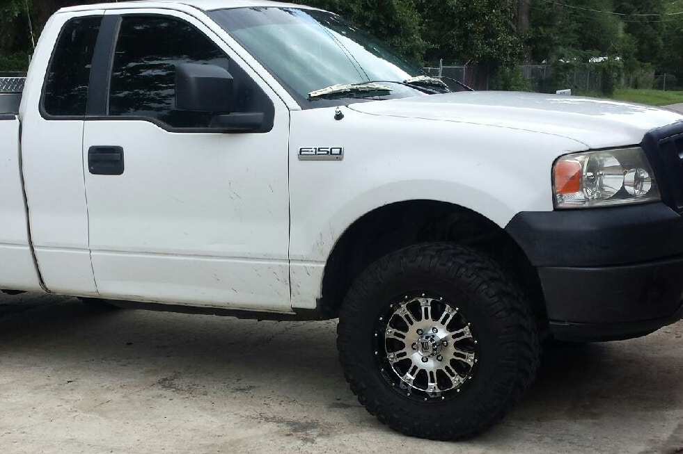 2010004, 2007, ford, f150, truck, xd, hoss, 17, 33, nitto, mudterrain